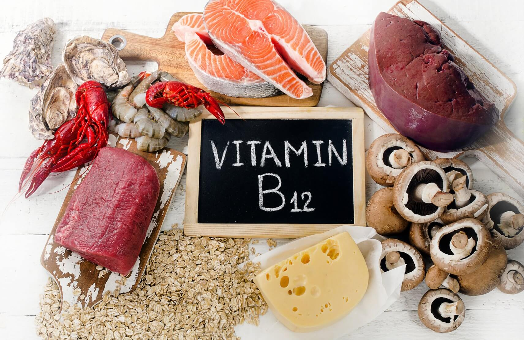 ᐉ Витамин B12 (Б12, Кобаламин) - влияние, польза, вред, описание и  применение